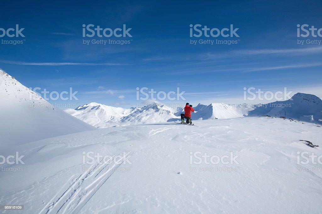 ski mountaineering photographer royalty-free stock photo