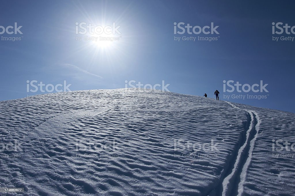 Ski mountaineering royalty-free stock photo