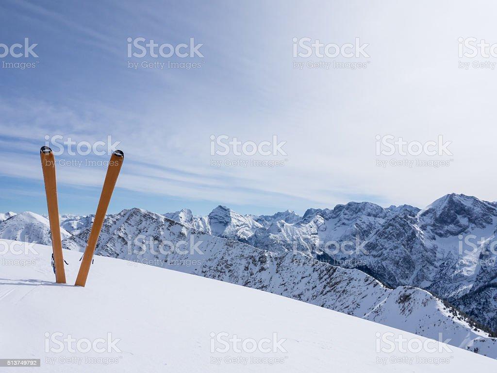 Ski mountaineering stock photo