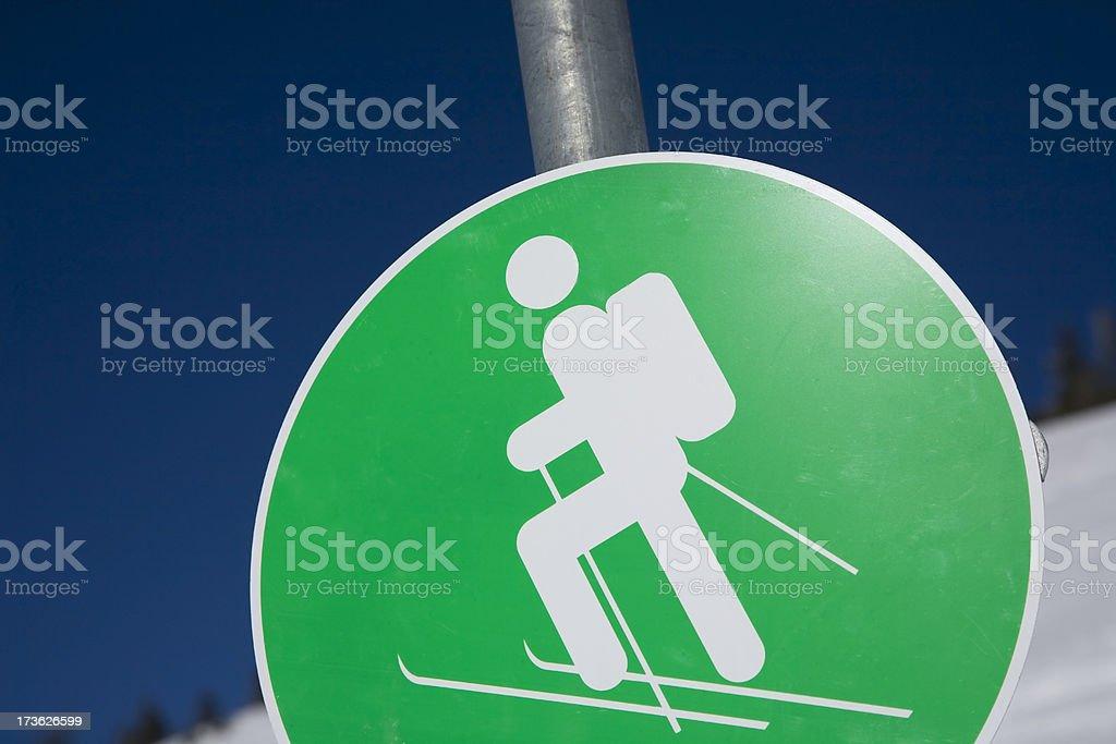Ski Mountaineering sign royalty-free stock photo