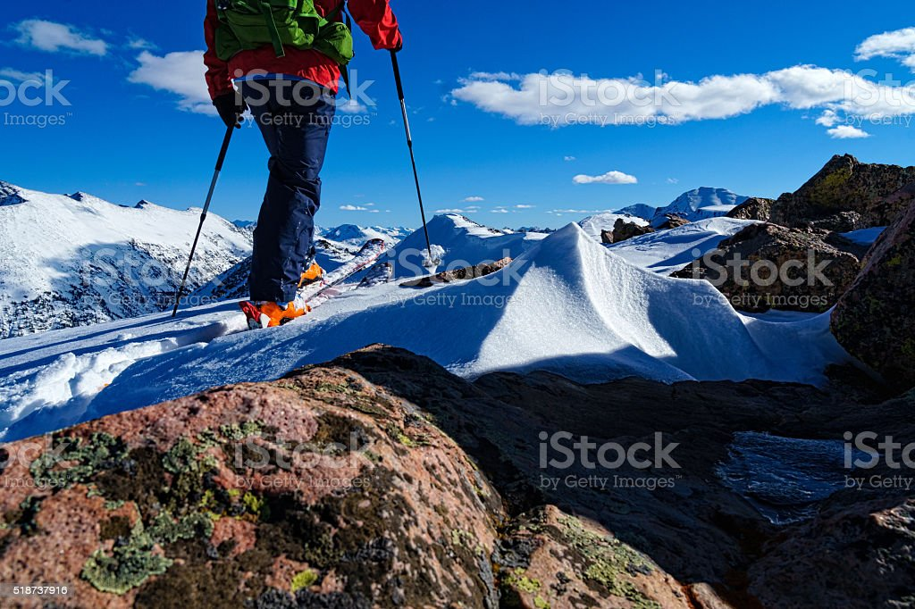 Ski Mountaineering the Sawatch Mountains stock photo