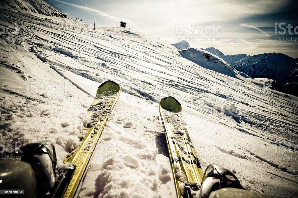 Ski on The Slope stock photo