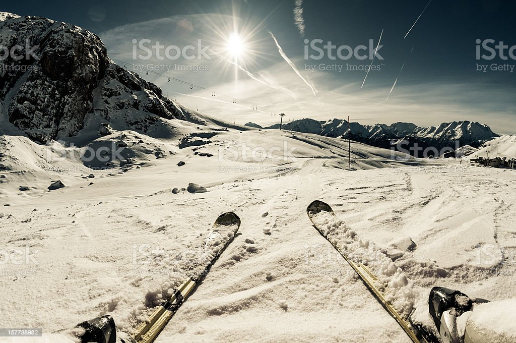 Ski on The Slope royalty-free stock photo