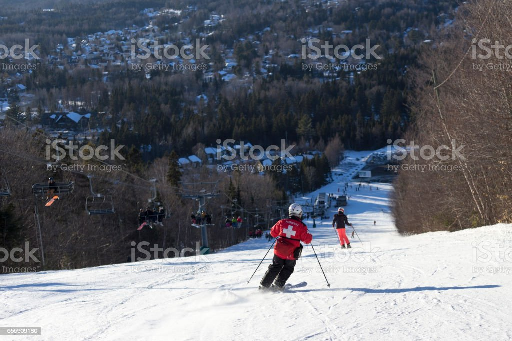 Ski patrouille stock photo