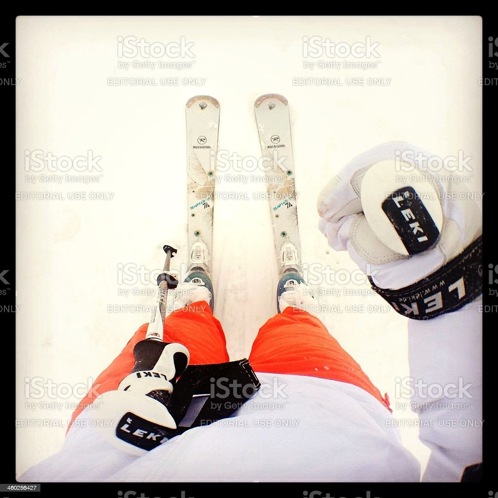 Ski royalty-free stock photo