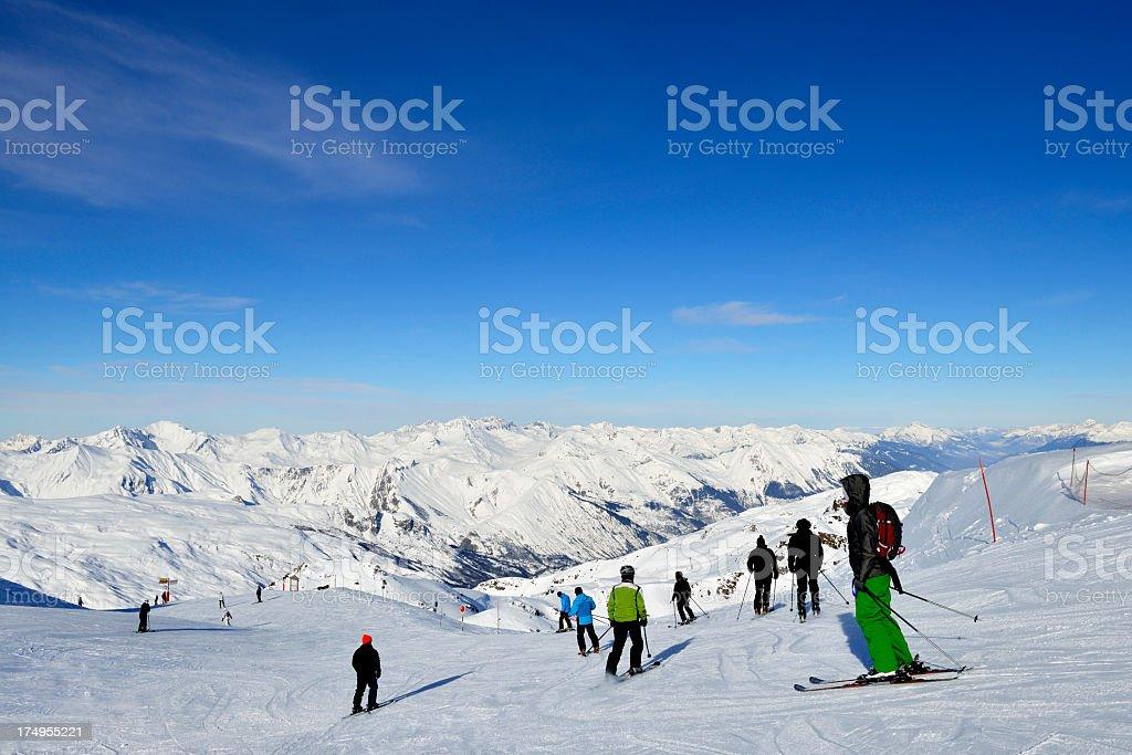 Ski Piste stock photo