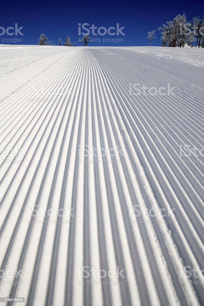 Ski piste well prepared stock photo