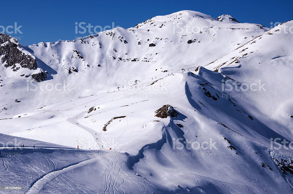 Ski pistes in Mayrhofen stock photo