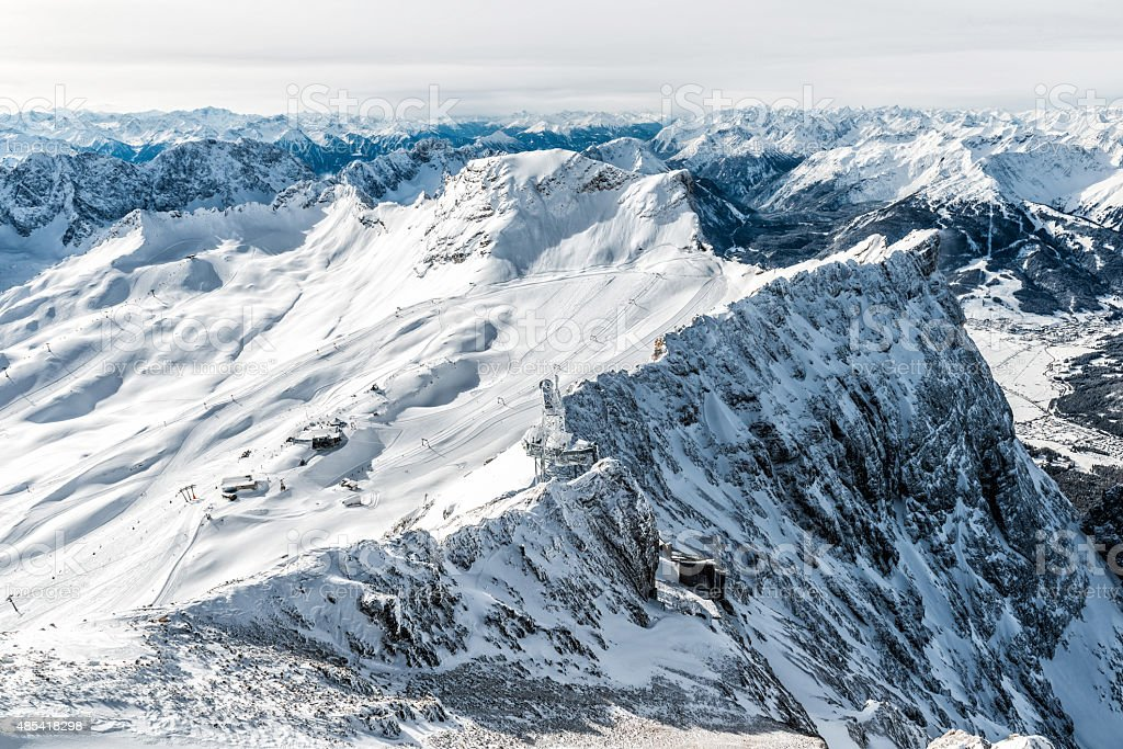 ski region stock photo