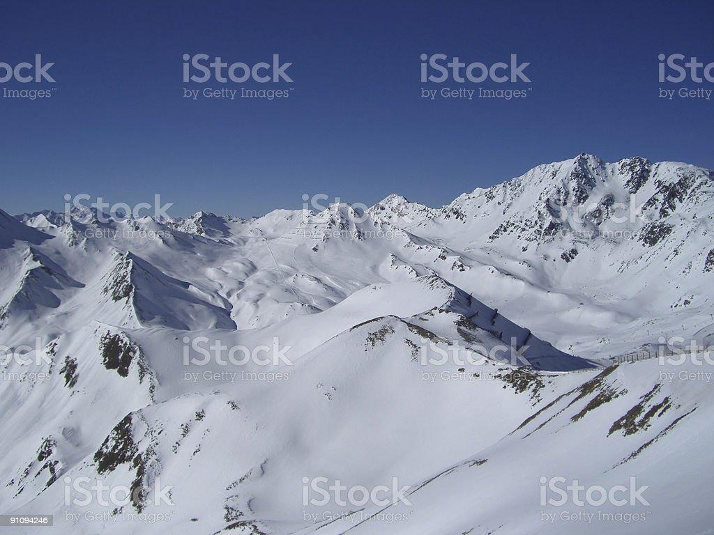 Ski Resort - Alpine View stock photo