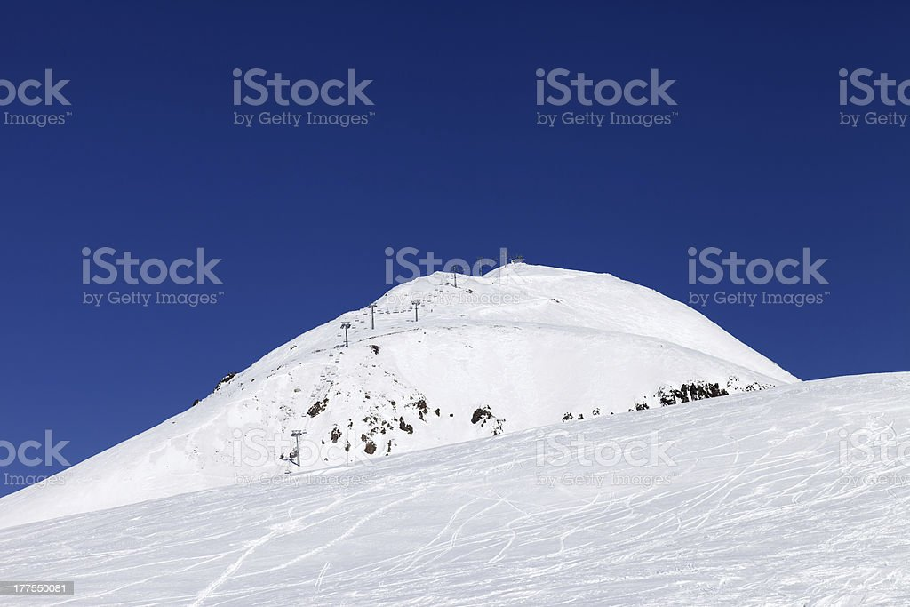 Ski resort at Caucasus Mountains royalty-free stock photo