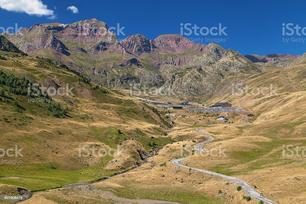 Ski Resort at Summer stock photo