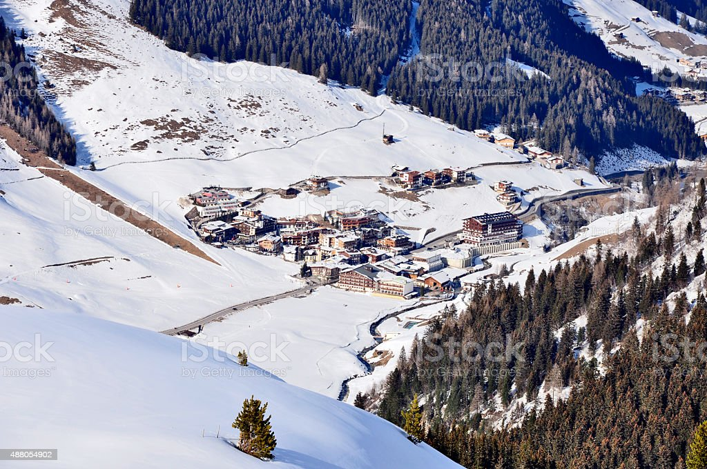 Ski Resort Hintertux stock photo