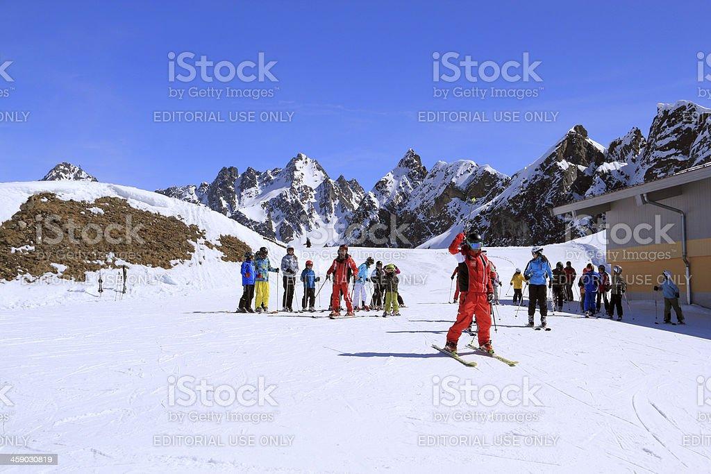 Ski resort in Austria royalty-free stock photo