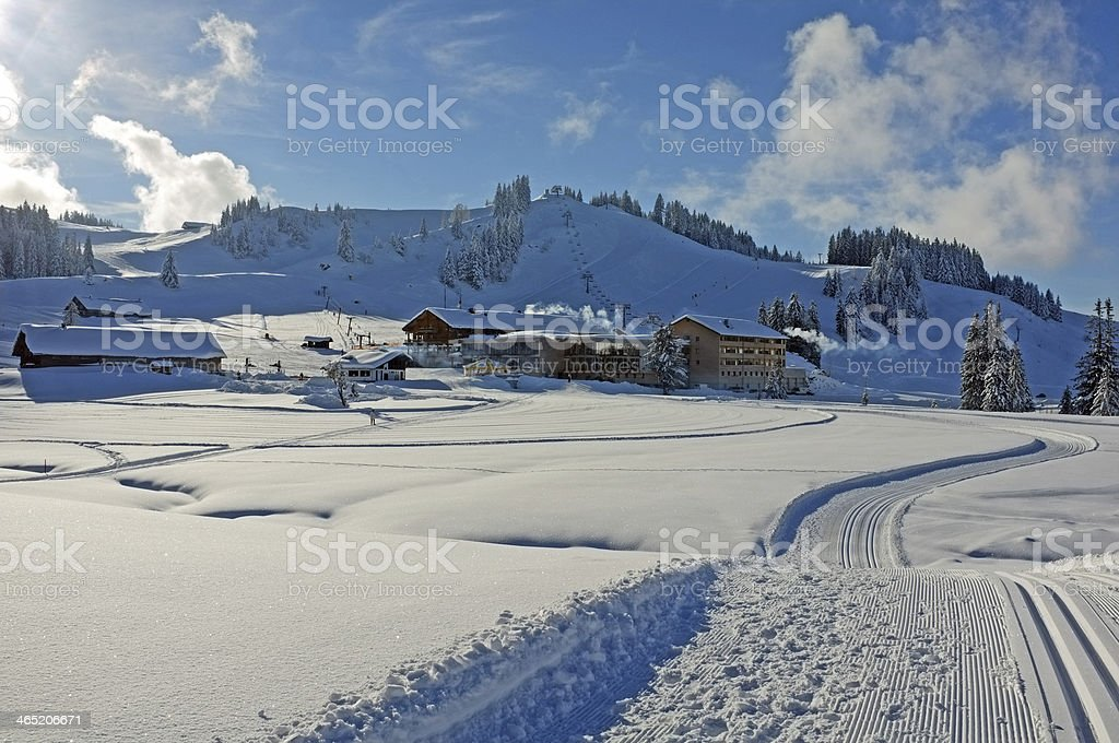 Ski Resort in Austrian Alps stock photo