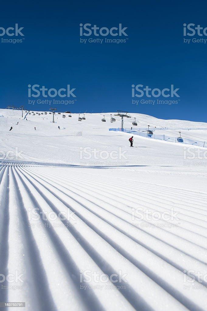 Ski resort in Dolomites royalty-free stock photo