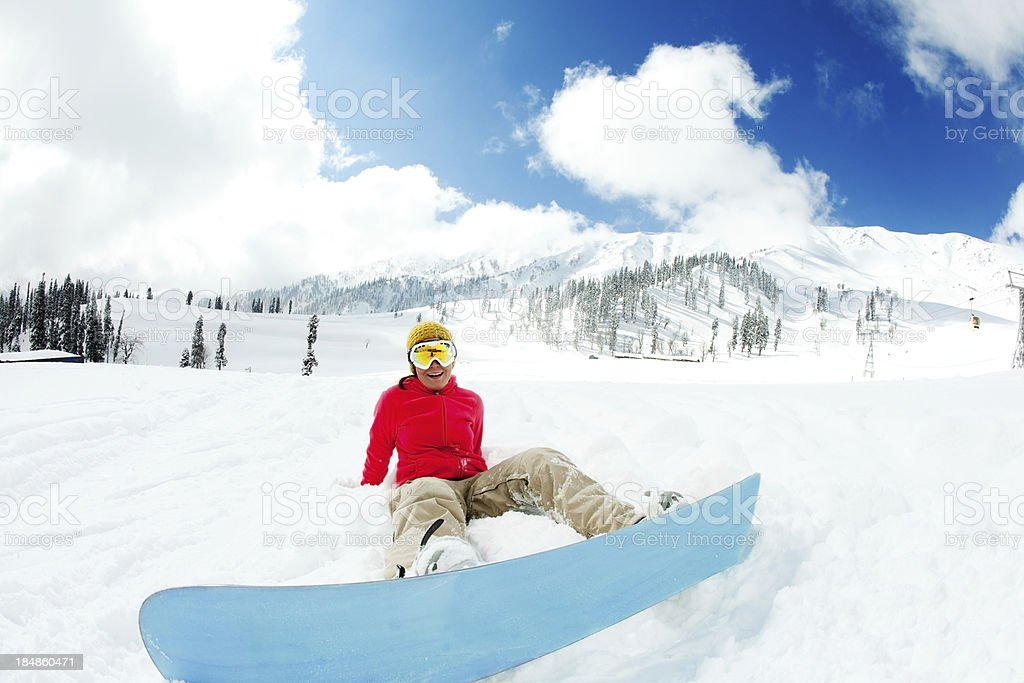 Ski resort in India royalty-free stock photo
