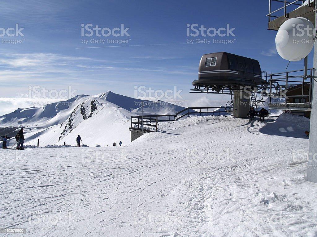 Ski Resort in Italy royalty-free stock photo