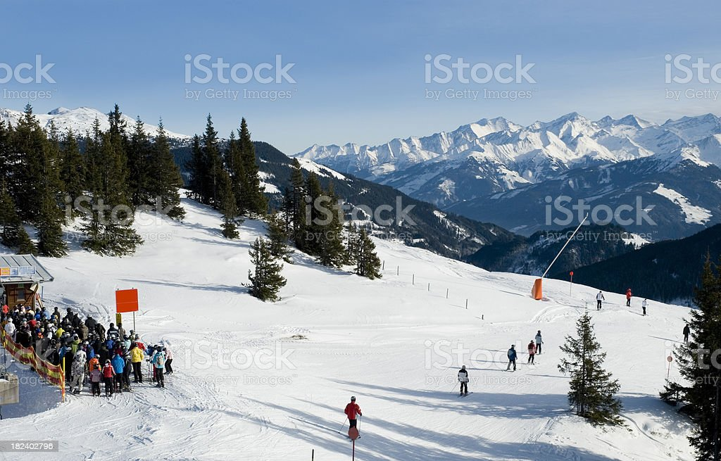 ski resort in kitzbuhel stock photo