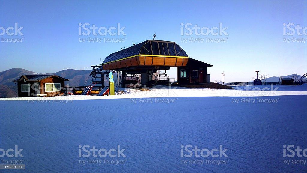 ski resort in korea royalty-free stock photo