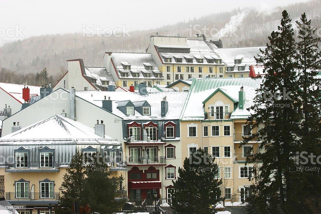 Ski Resort in the Mountain stock photo