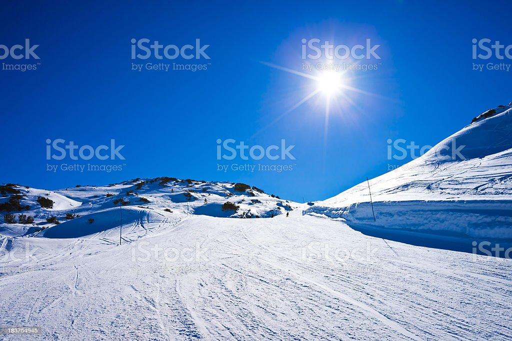 Ski resort in winter stock photo
