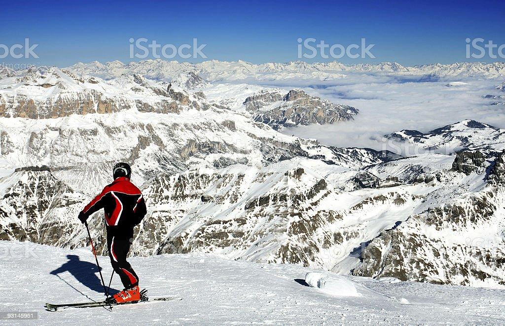 Ski resort Italy royalty-free stock photo