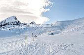 Ski resort Jungfrau. Swiss Alps