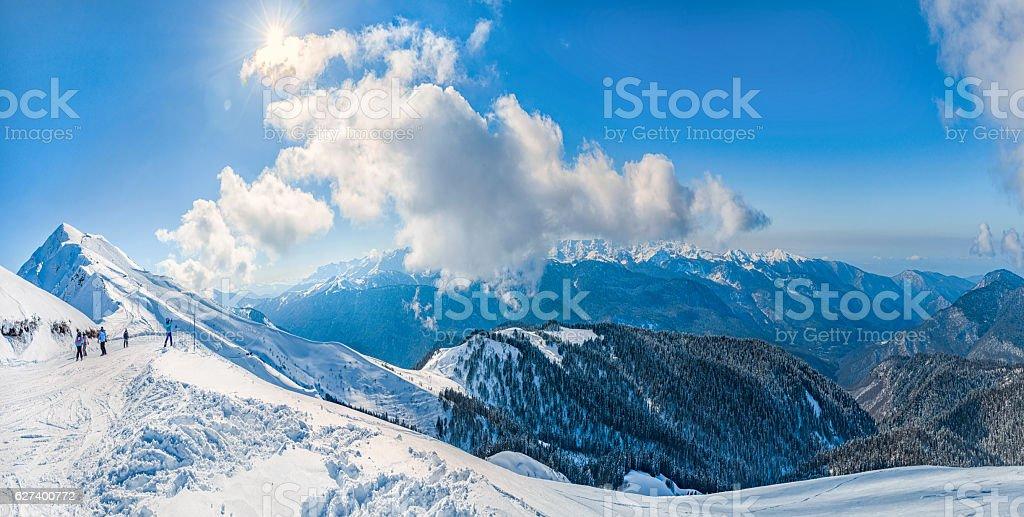 Ski resort Krasnaya Polyana . stock photo