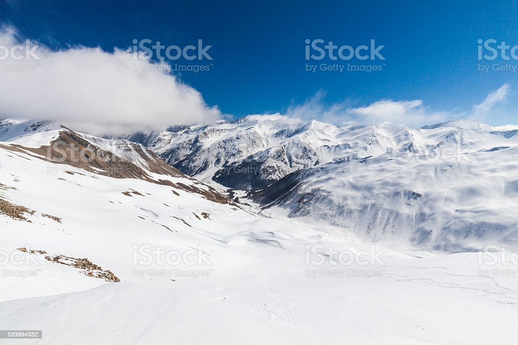 Ski resort Les Orres, Hautes-Alpes, France stock photo