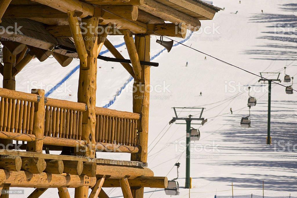 Ski Resort Lodge stock photo