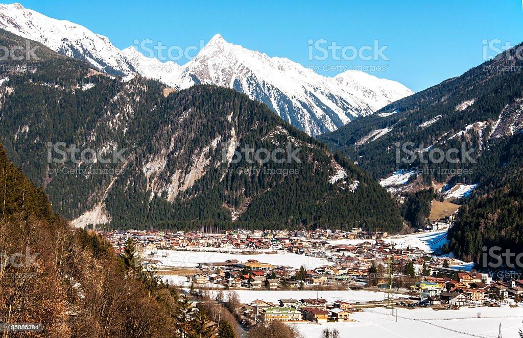 Ski resort Mayrhofen stock photo