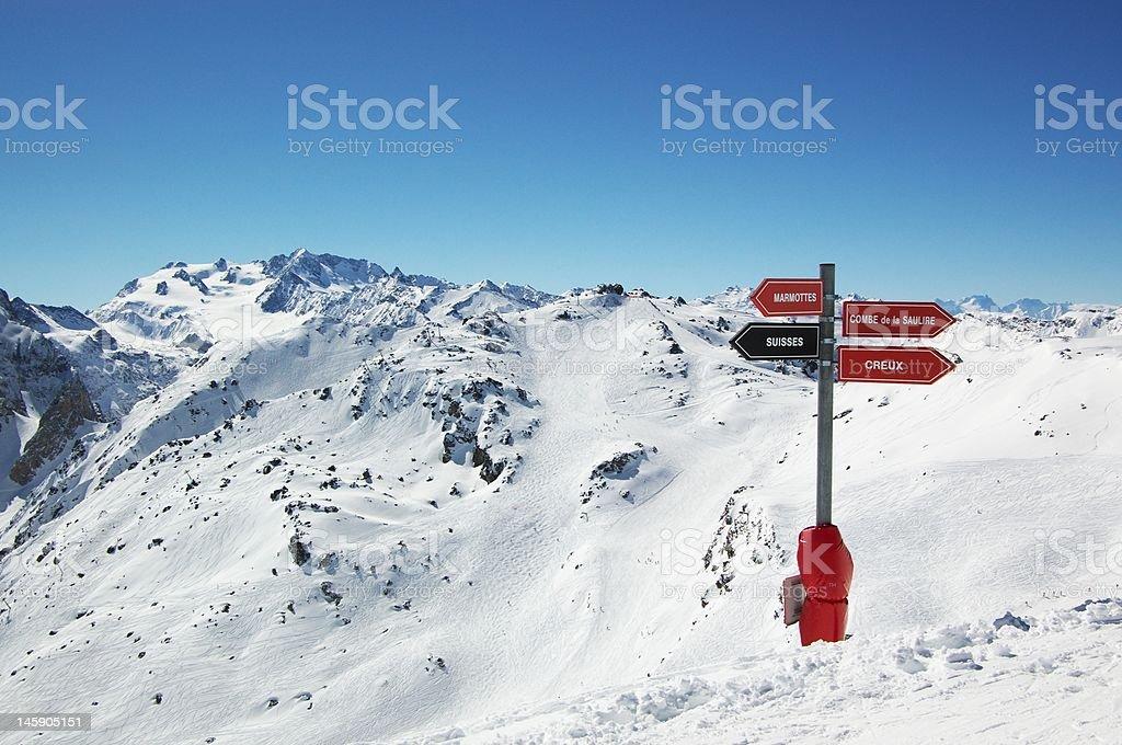ski resort mountain view stock photo