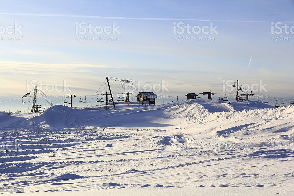 Ski resort of Vosges stock photo