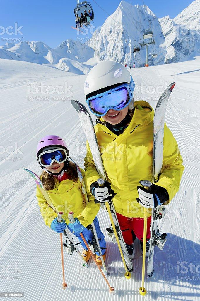 Ski, resort. stock photo