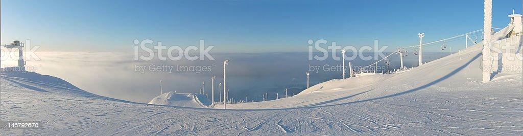 Ski Resort, Ruka Finland royalty-free stock photo