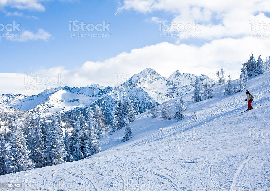 Ski resort Schladming. Austria stock photo