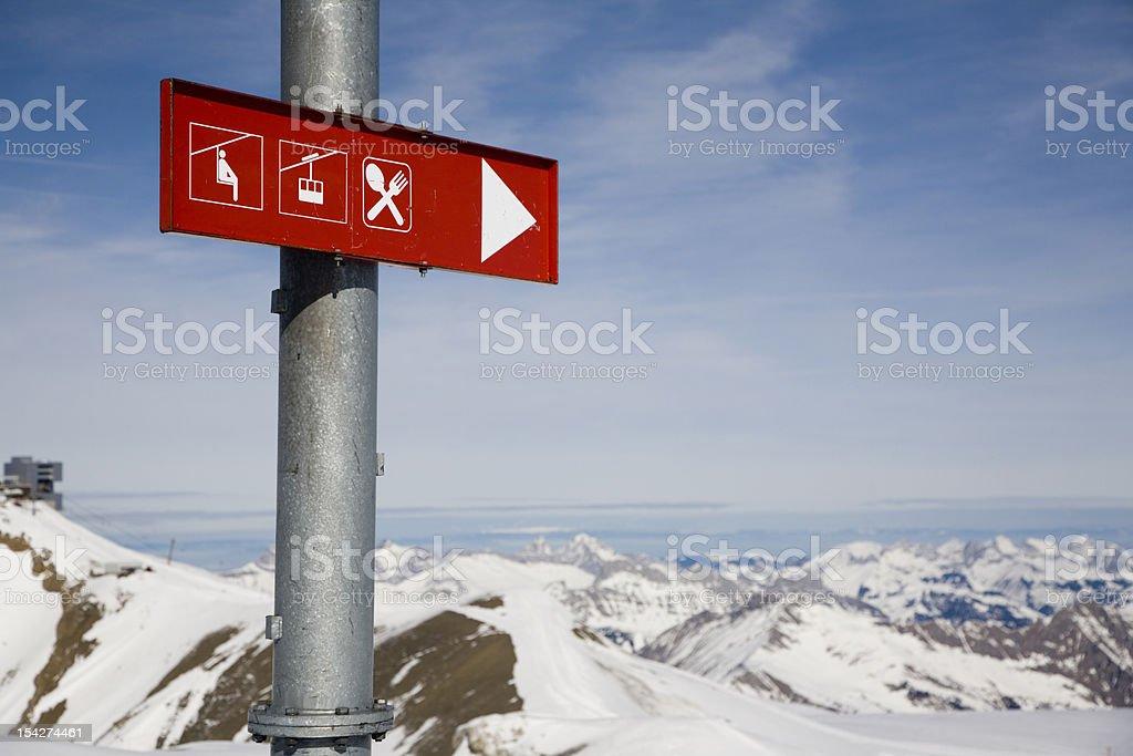 ski resort sign royalty-free stock photo