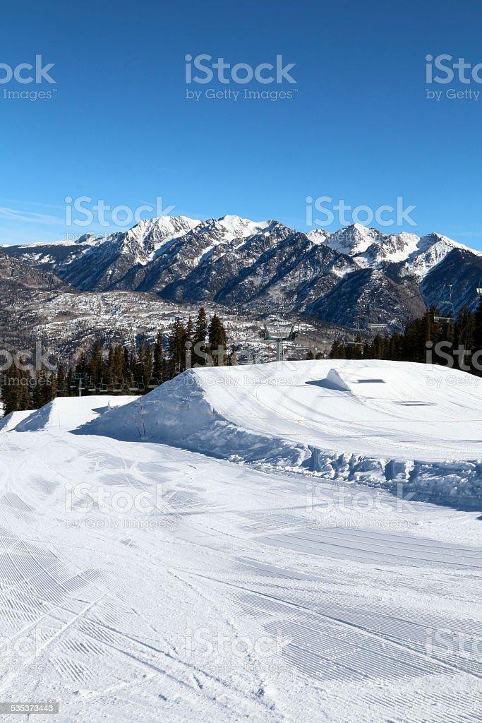 Ski Resort Terrain - Empty Jump stock photo