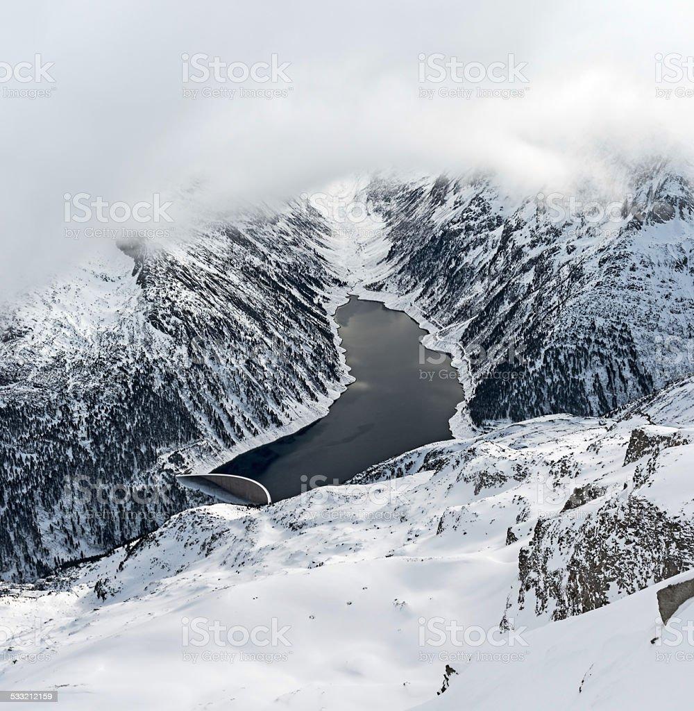 Ski resort Zillertal - Tirol, Austria. stock photo