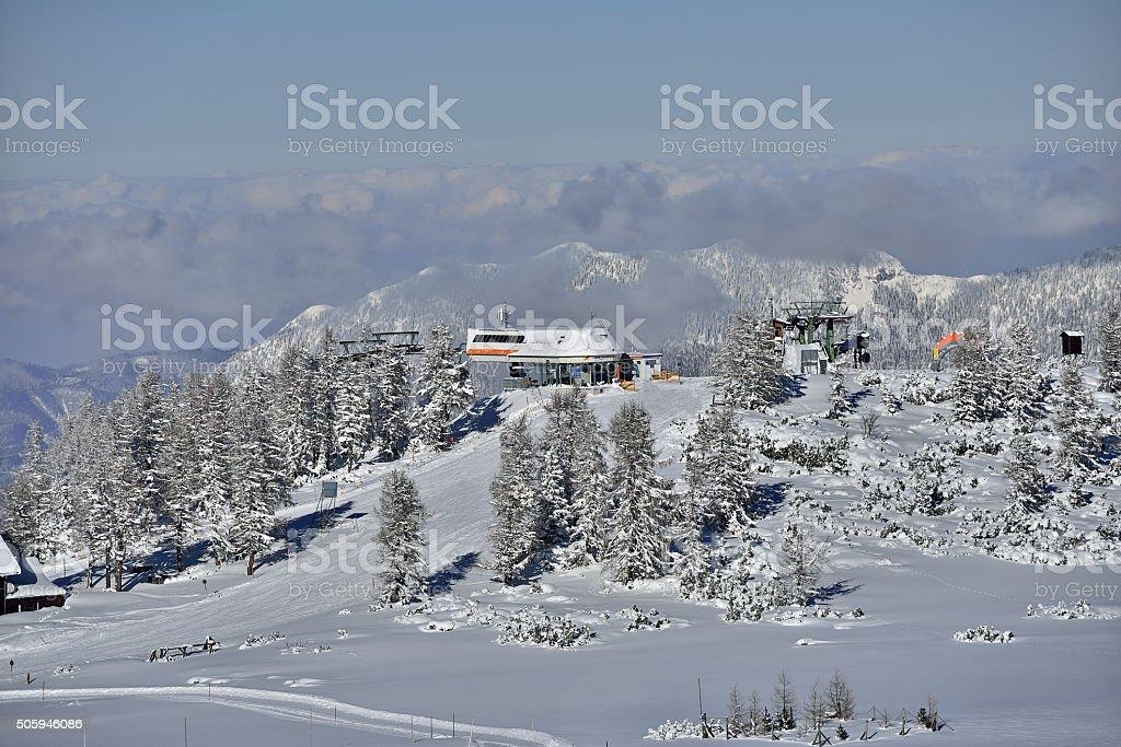 Ski Ressort summit in Hinterstoder (Upper Austria) stock photo
