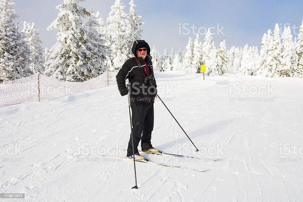 Ski runner on a beautiful winter day....Rogla,Slovenia royalty-free stock photo