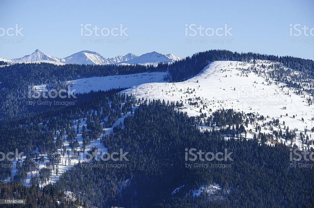 Ski Runs Vail Colorado stock photo