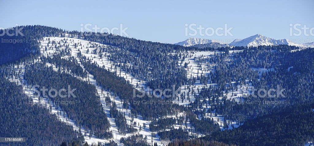 Ski Runs Vail Colorado royalty-free stock photo