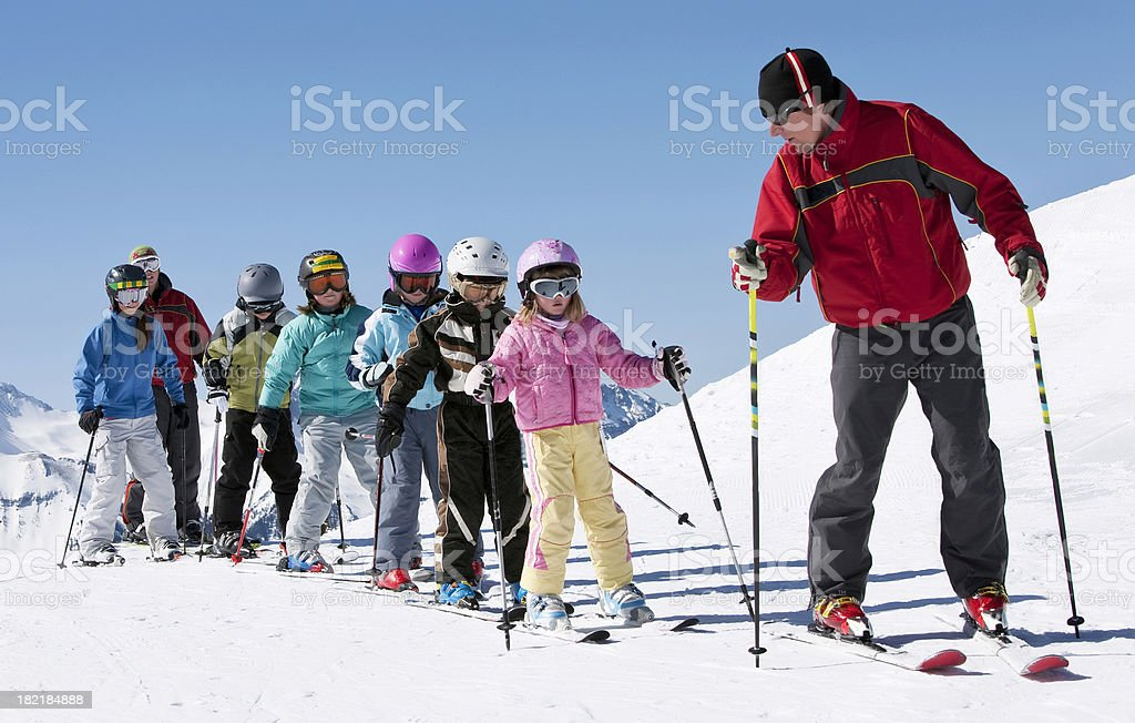Ski School stock photo