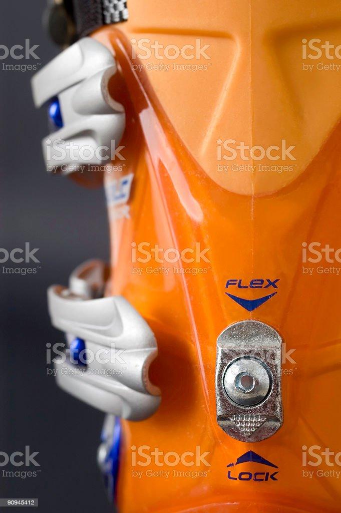 Ski shoe royalty-free stock photo