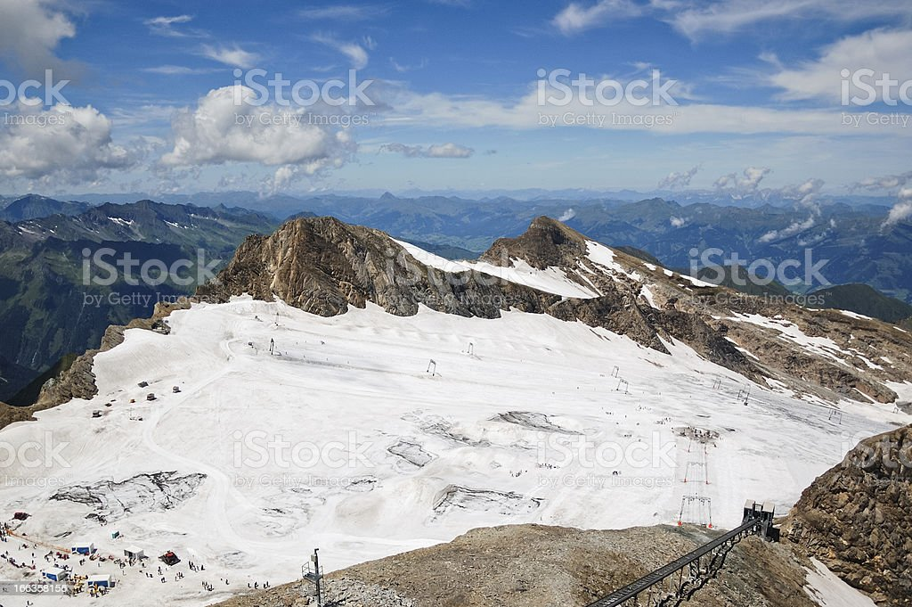 Ski slope at summer royalty-free stock photo