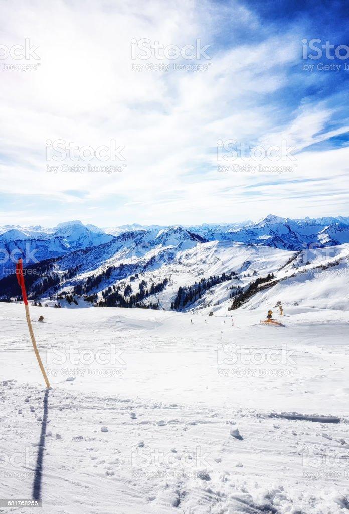 Ski Slope Damuls, Austria stock photo
