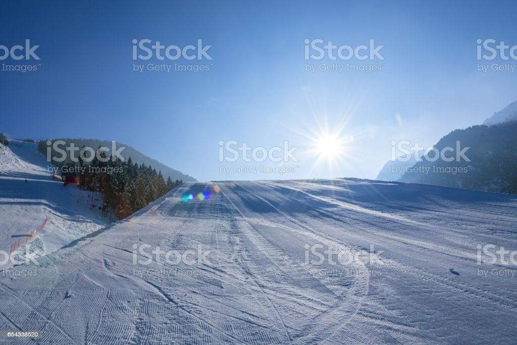 ski slope in bulgaria stock photo