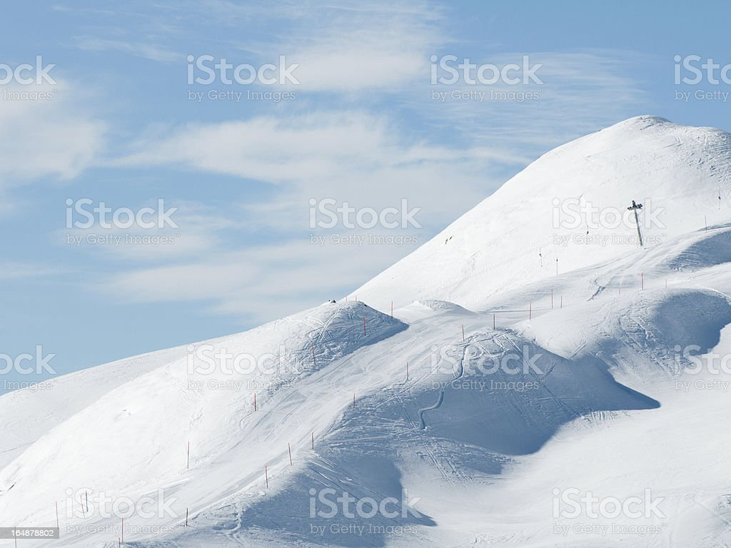 Ski slope in European Alps royalty-free stock photo